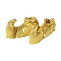 Schnabelschuhe Gold