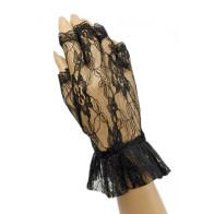 Handschuhe, Fingerlos,  Schwarz