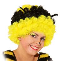 Witzige Bienen Perücke mit Fühlern