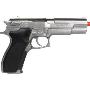 45er Polizei Pistole Metall, Gangster Knarre 45er authentisch