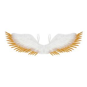 Engelsflügel weiss - gold