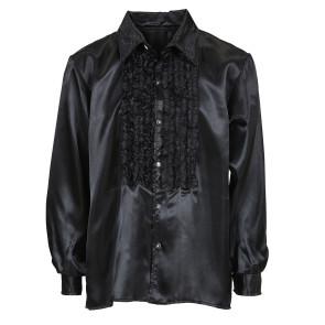 Satinhemd schwarz
