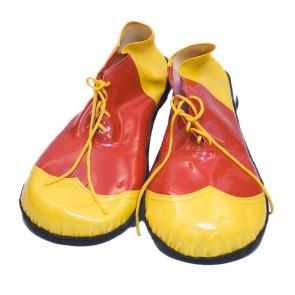 Bild Clown Schuhe gelb rot zum schnüren