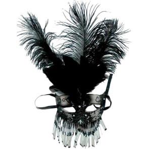 Bild von Visier Venedig schwarz mit Perlen