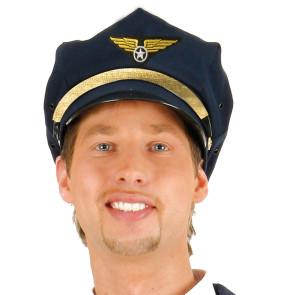 Piloten und Fliegermütze für Flugkapitän und Pilot dunkeblau