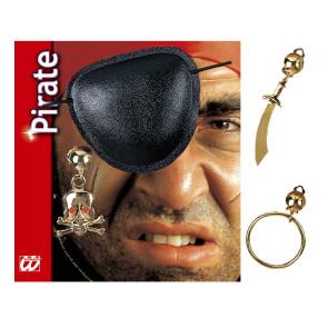 Piratenaugenklappe mit Ohrring