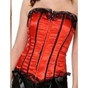 Bild mit rotem schwarzem Korsagen-Korsett