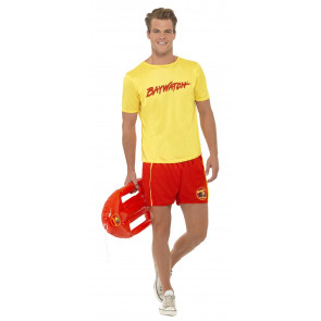 Baywatch Kostüm - Short Baywatch mit Shirt in rot