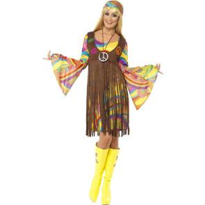 Foto v. vorne, Damenkostüm Hippie der 60er Jahre