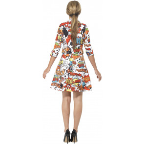 Cartoon Kleid - Comickleid Damen S, M, L