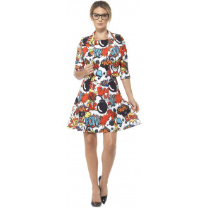 Cartoon Print Kleid Damen