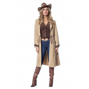 Faschingskostüm Western Lady als Cowgirl im langen Rock