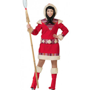 Ausgefallenes Kostüm als Inuit / Eskimo Frau