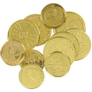 Goldmünzen für Kostüm Zubehör Karneval