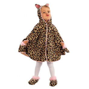 Mädchen als Leoparde mit Umhang verkleidet