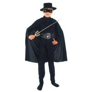 Junge im verwegenen Zorro Kostüm für Kinder
