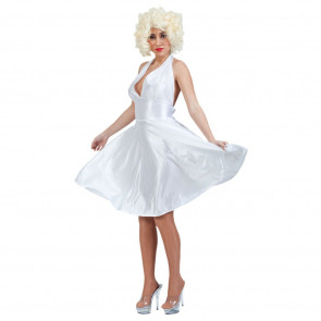 Marilyn in weißem Kleid 50er Stil