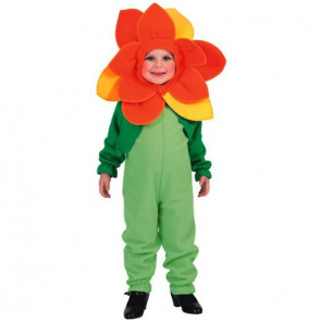 Mädchen als Blume verkleidet