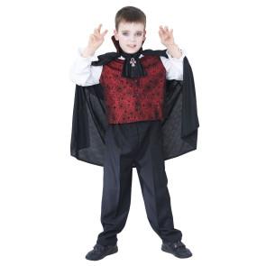 Junge verkleidet mit Kinderkostüm Vampir