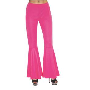 Coole Schlaghose in pink für den selbstgemachten 70er Hippie Style