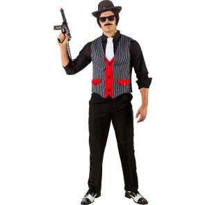 Ganovenweste - Weste für Mafia Kostüm