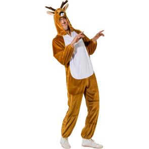 Wilder Wolf Kostüm für Erwachsene mit grauen Tierfell Imitat