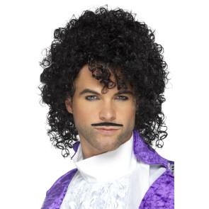 80er Jahre Frisurperücke für Musikstar, Pop oder Prince Verkleidungen