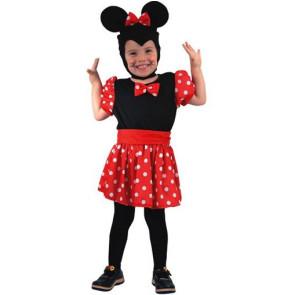 Kleinkind im Maus Kostüm für Mädchen Gr. 98 bis 104