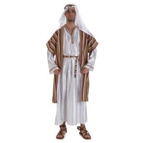 Beduine, Araber, Scheich Kostüm, weiß mit Kutte