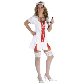 Blondine mit Sexy Krankenschwester Kostüm