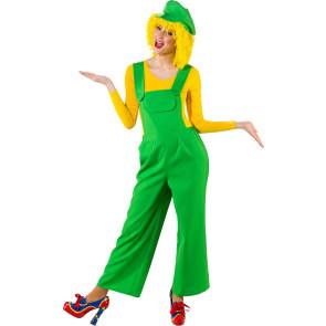 Damen Latzhose grün