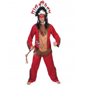 tapferer Indianer im Kostüm