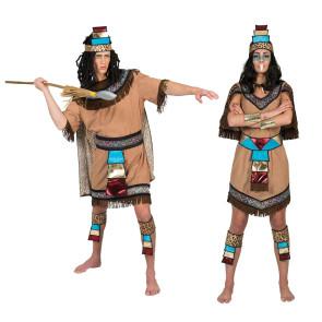 Afrika Kostüm Gruppe verkleidet als Eingeborene