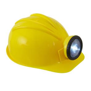 Bauarbeiter Helm mit Leuchte, Grubenarbeiter