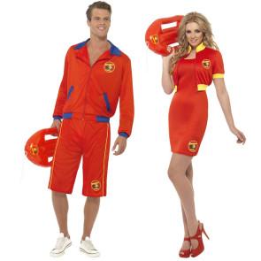 Baywatch Paar Team als Rettungsschwimmer Beachparty Look