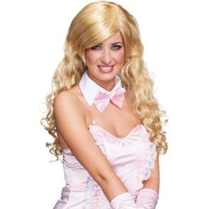 Lange blonde Locken Perücke hochwertig