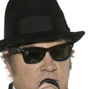 Foto Mann mit Brille dunke wie Blue Brothers