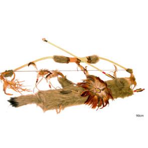 Bogen Köcher und Pfeile authentisches Indianer und Eskimo Kostümzubehör