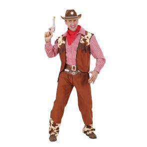 Foto Cowboy mit Lasso im Bonanza Cowboy Kostüm mit Chaps und Weste