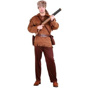 Mann als Trapper und Fallensteller verkleidet