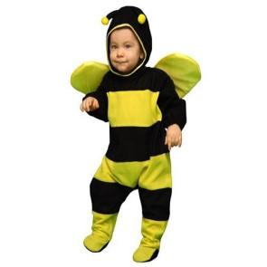 Baby in Overall / Strampelanzug Bienenkostüm