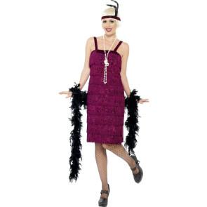 Foto mit Charleston Kostüm violett