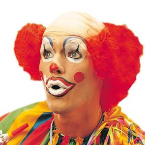 Clown mit Glatze und roten Haaren