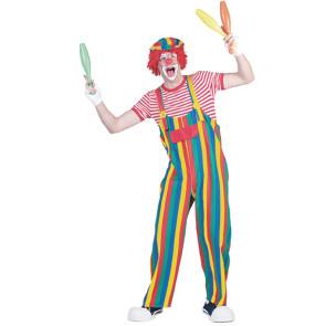 Clown Latzhose gestreift Herren 48 bis 58