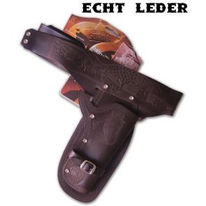 Authentischer Leder Coltgürtel Holster für Erwachsene