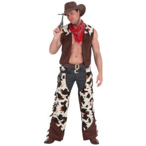 Cowboy Kostüm mit Chaps und Weste