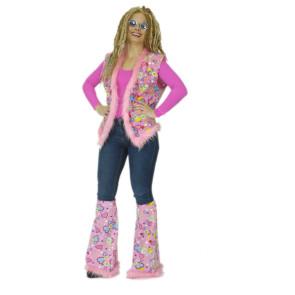 Hippie Weste Damen in rosa zum kombinieren für Kostüme