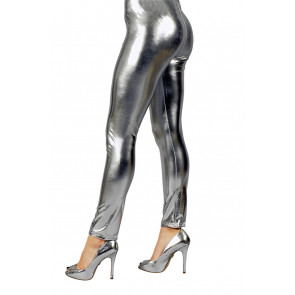 Silber Damen Leggings in silberglänzend