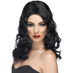 Damenperücke Schwarze lange Haare Südländerin Bollywoodstar