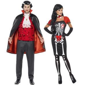 Dracula und seine Vampir Braut Paarkostüm Dracula